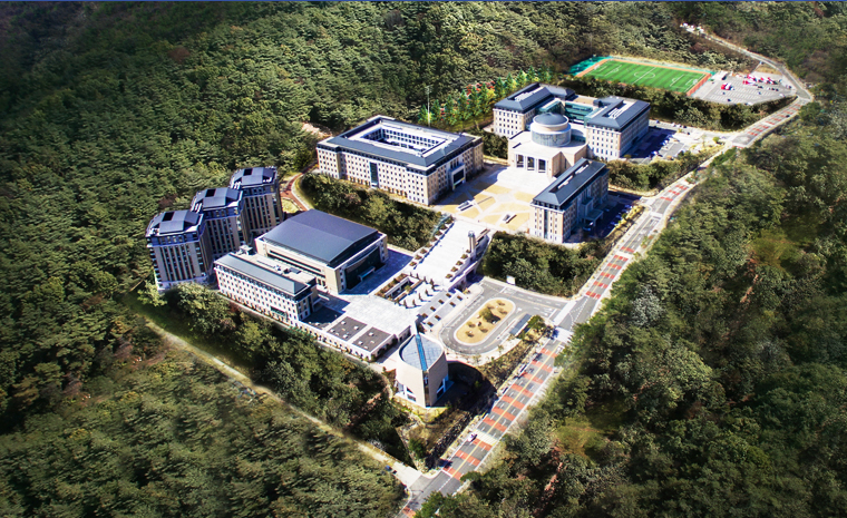 campus trường đại học ngoại ngữ Busan